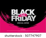 black friday sale banner | Shutterstock .eps vector #507747907