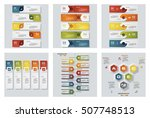 collection of 6 design colorful ... | Shutterstock .eps vector #507748513