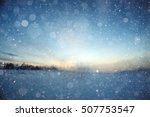 blurred winter background with...   Shutterstock . vector #507753547