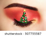 eye girl makeover christmas... | Shutterstock . vector #507755587