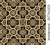 oriental vector pattern with... | Shutterstock .eps vector #507761323