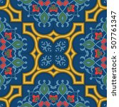 oriental vector pattern with... | Shutterstock .eps vector #507761347