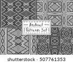 ethnic geometric backgrounds.... | Shutterstock .eps vector #507761353