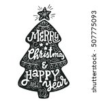 merry christmas and happy new... | Shutterstock .eps vector #507775093
