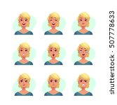 girl face expression  set of...