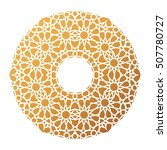 gold islamic pattern background ... | Shutterstock .eps vector #507780727