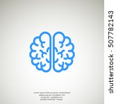 brain icon flat. | Shutterstock .eps vector #507782143