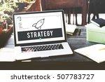 business rocket ship icon... | Shutterstock . vector #507783727