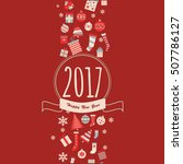 new year and christmas vector... | Shutterstock .eps vector #507786127