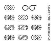 infinity logo template set.... | Shutterstock . vector #507788497