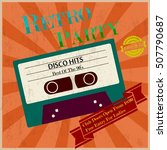 retro party poster vintage tape ... | Shutterstock .eps vector #507790687
