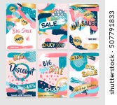 set of creative universal cards.... | Shutterstock .eps vector #507791833