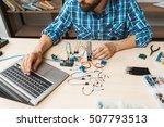 programmer testing his new...   Shutterstock . vector #507793513