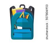 backpack schoolbag icon in flat ... | Shutterstock .eps vector #507806953