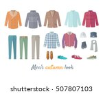 mens autumn look apparel set.... | Shutterstock .eps vector #507807103