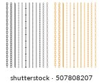 metal chainlets with variety... | Shutterstock .eps vector #507808207
