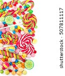 colorful candies and lollipops... | Shutterstock . vector #507811117