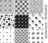 set of black and white...   Shutterstock .eps vector #507818437