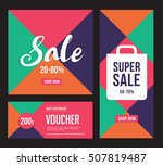 template sale banner background ... | Shutterstock .eps vector #507819487