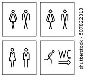 wc   toilet door plate icon set.... | Shutterstock . vector #507822313