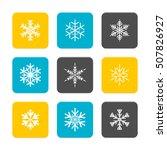 vector flat icons set  ... | Shutterstock .eps vector #507826927