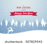 winter christmas forest with... | Shutterstock .eps vector #507829543