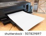 digital paper printer and blank ...   Shutterstock . vector #507829897