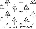 hand drawn vector abstract... | Shutterstock .eps vector #507838477