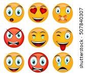 set of emoticons. set of emoji. ... | Shutterstock .eps vector #507840307
