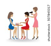 young ladies in beauty salon  ... | Shutterstock .eps vector #507845317