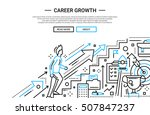 illustration of vector modern... | Shutterstock .eps vector #507847237