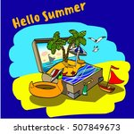 hello summer | Shutterstock .eps vector #507849673