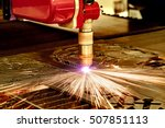 cnc laser plasma cutting of... | Shutterstock . vector #507851113