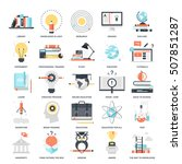 vector set of education and... | Shutterstock .eps vector #507851287