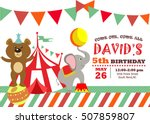 circus birthday invitation card | Shutterstock .eps vector #507859807