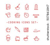 cooking outline icons. outline...