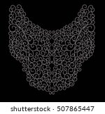 swirls pattern   neck line... | Shutterstock .eps vector #507865447