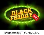 black friday sale frame design... | Shutterstock .eps vector #507870277