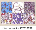hand drawn vector set with... | Shutterstock .eps vector #507897757