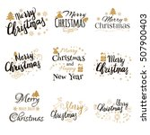 merry christmas and happy new... | Shutterstock .eps vector #507900403
