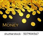 money. falling coins. vector... | Shutterstock .eps vector #507904567