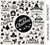 merry christmas  icons set... | Shutterstock .eps vector #507909877