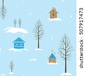 seamless winter background with ...   Shutterstock .eps vector #507917473