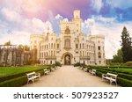 famous czech castle hluboka nad ... | Shutterstock . vector #507923527