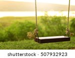 children swing in the park with ... | Shutterstock . vector #507932923