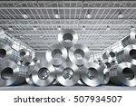 3d rendering roll of steel...   Shutterstock . vector #507934507