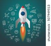 space rocket launch. business... | Shutterstock .eps vector #507949513