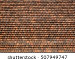 old red clay tile on vintage... | Shutterstock . vector #507949747
