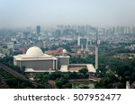 istiqlal mosque and jakarta...   Shutterstock . vector #507952477