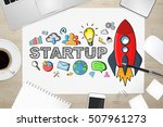 startup presentation with... | Shutterstock . vector #507961273